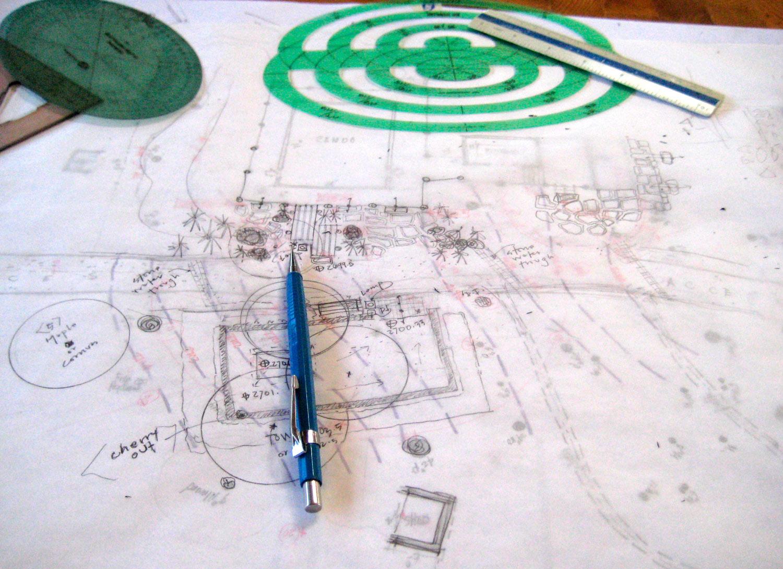 Early sketch for a garden design