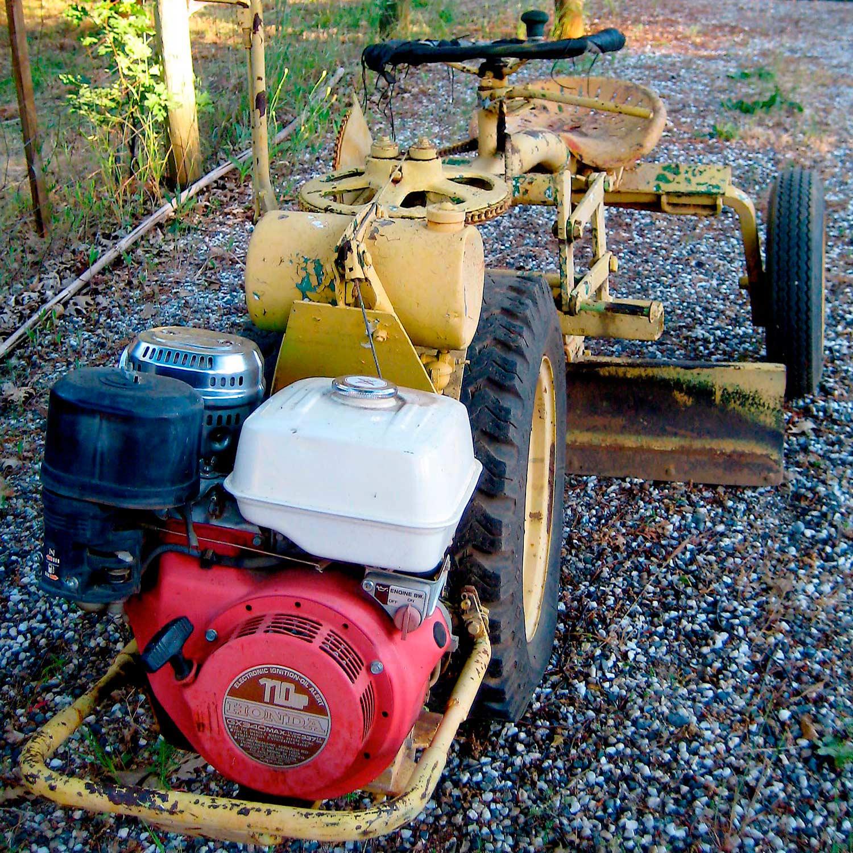 Antique motor grader—still in use