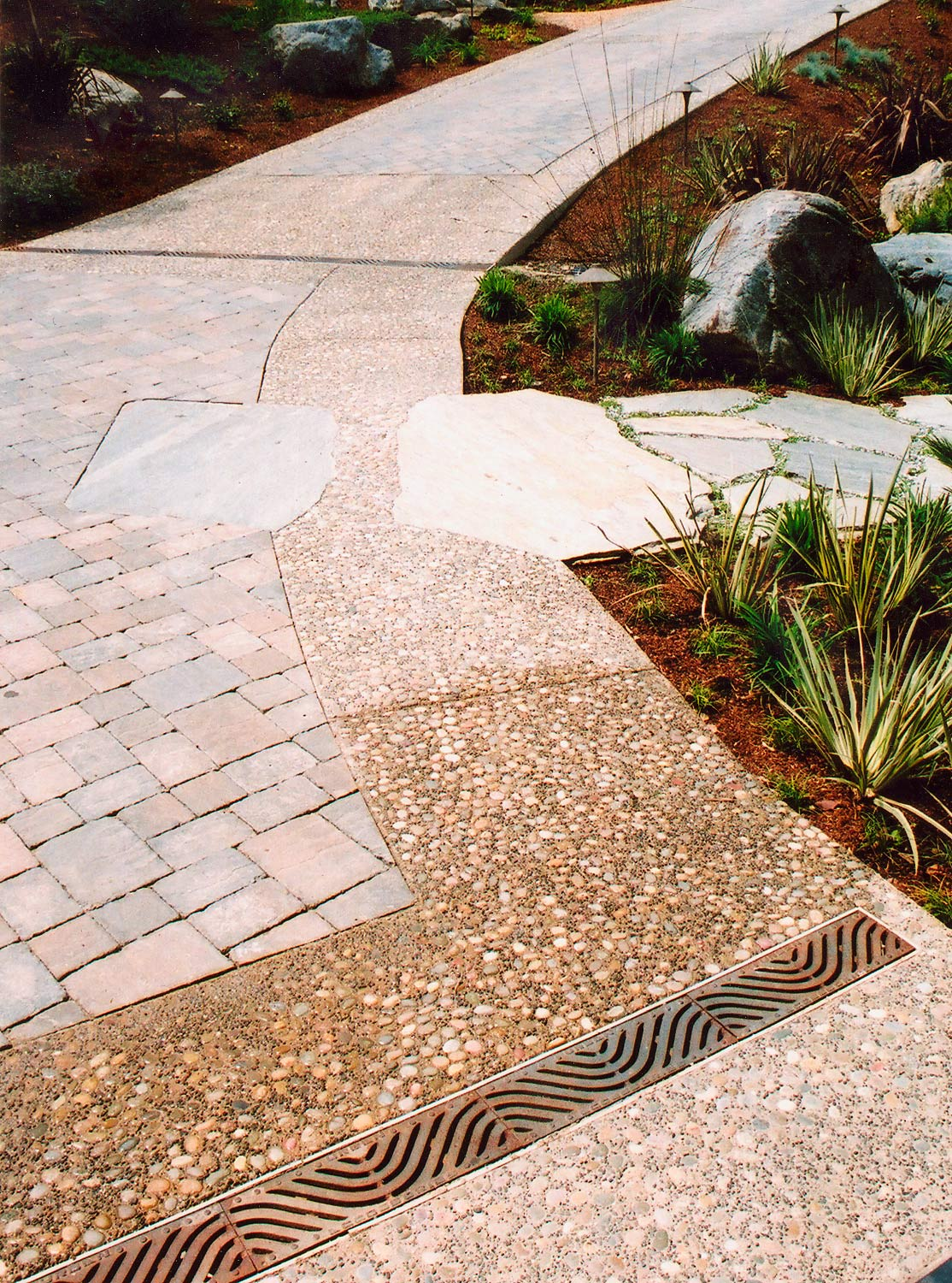 Custom driveway stone and paving details