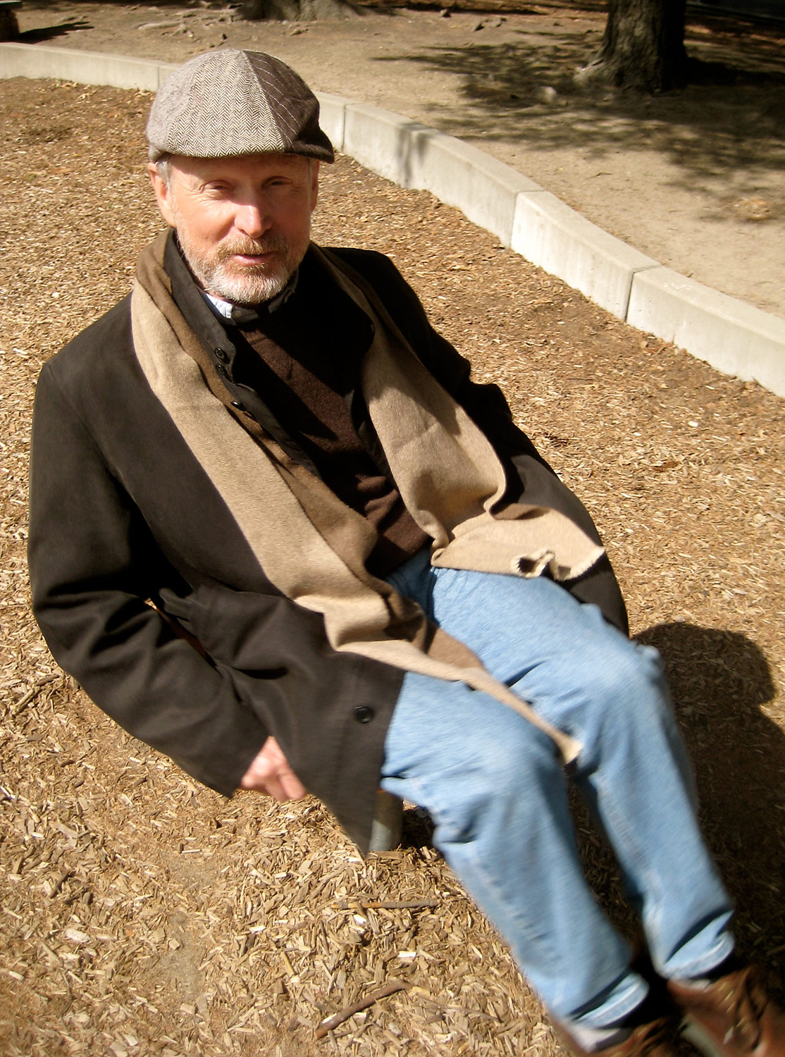 Jim Pyle, in the playground