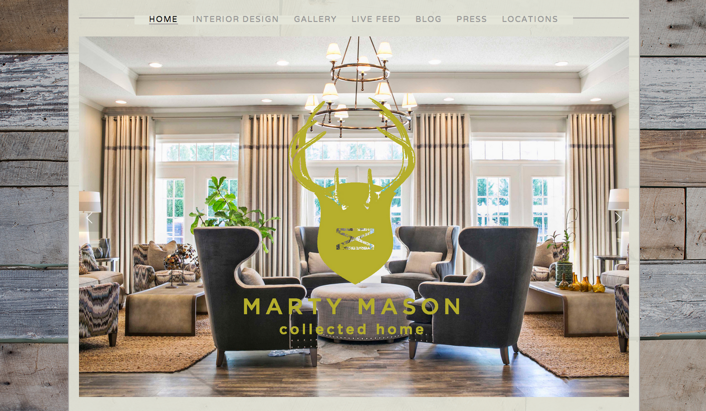 Website Design: Marty Mason Collected Home, Atlanta, GA