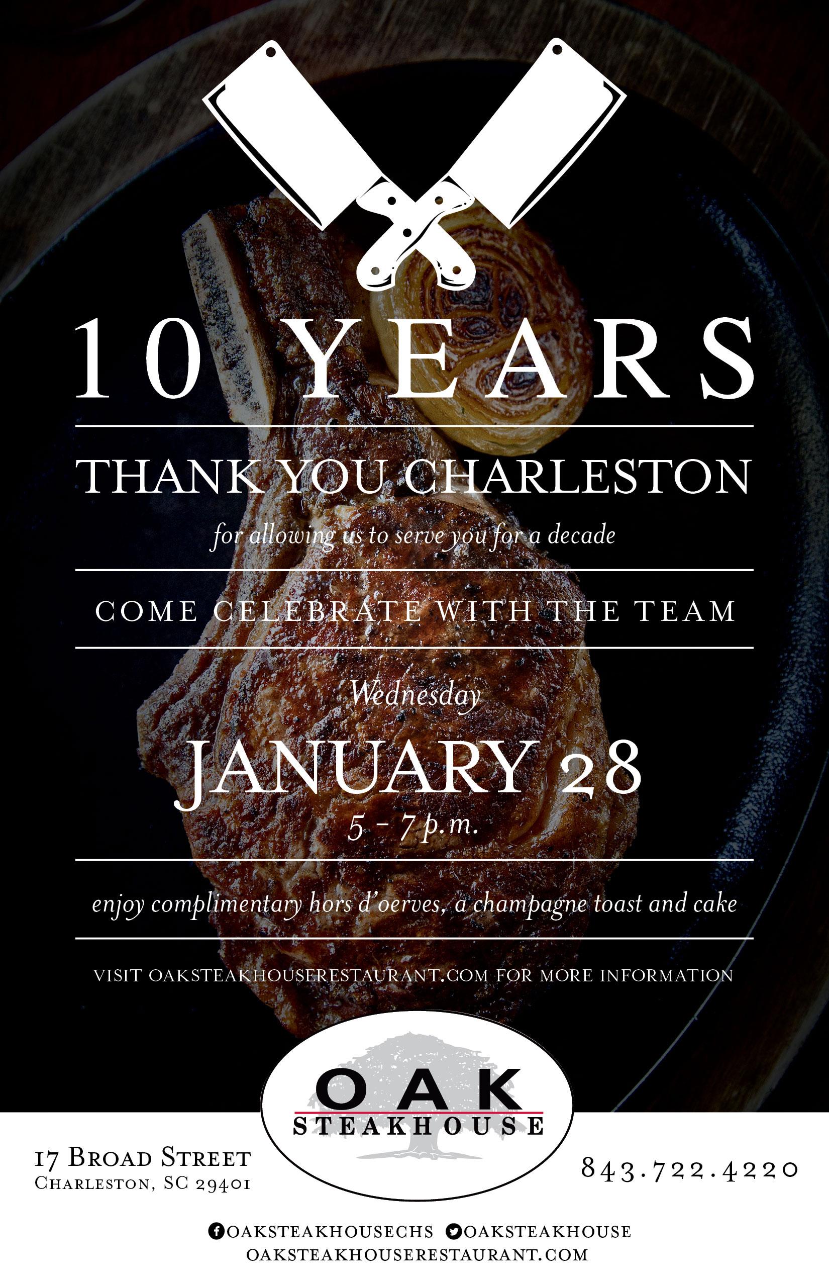 Event: Oak Steakhouse, Charleston, SC