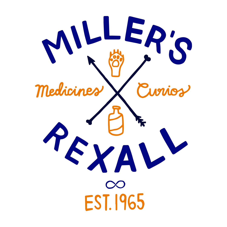 Miller's Rexall, logo