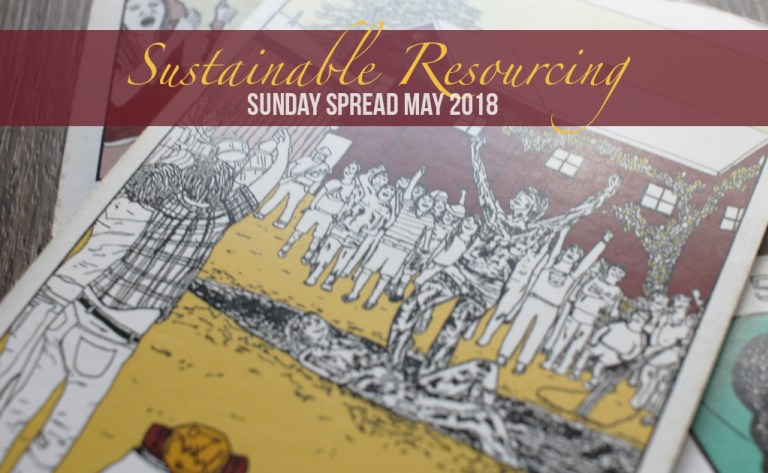 It's productivity season and our healing projects can be just as alluring as any other. This month we utilize tarot to guard and manage our sacred energy, even from ourselves. Check out this May's Sunday Spread for a little help with  SUSTAINABLE RESOURCING .