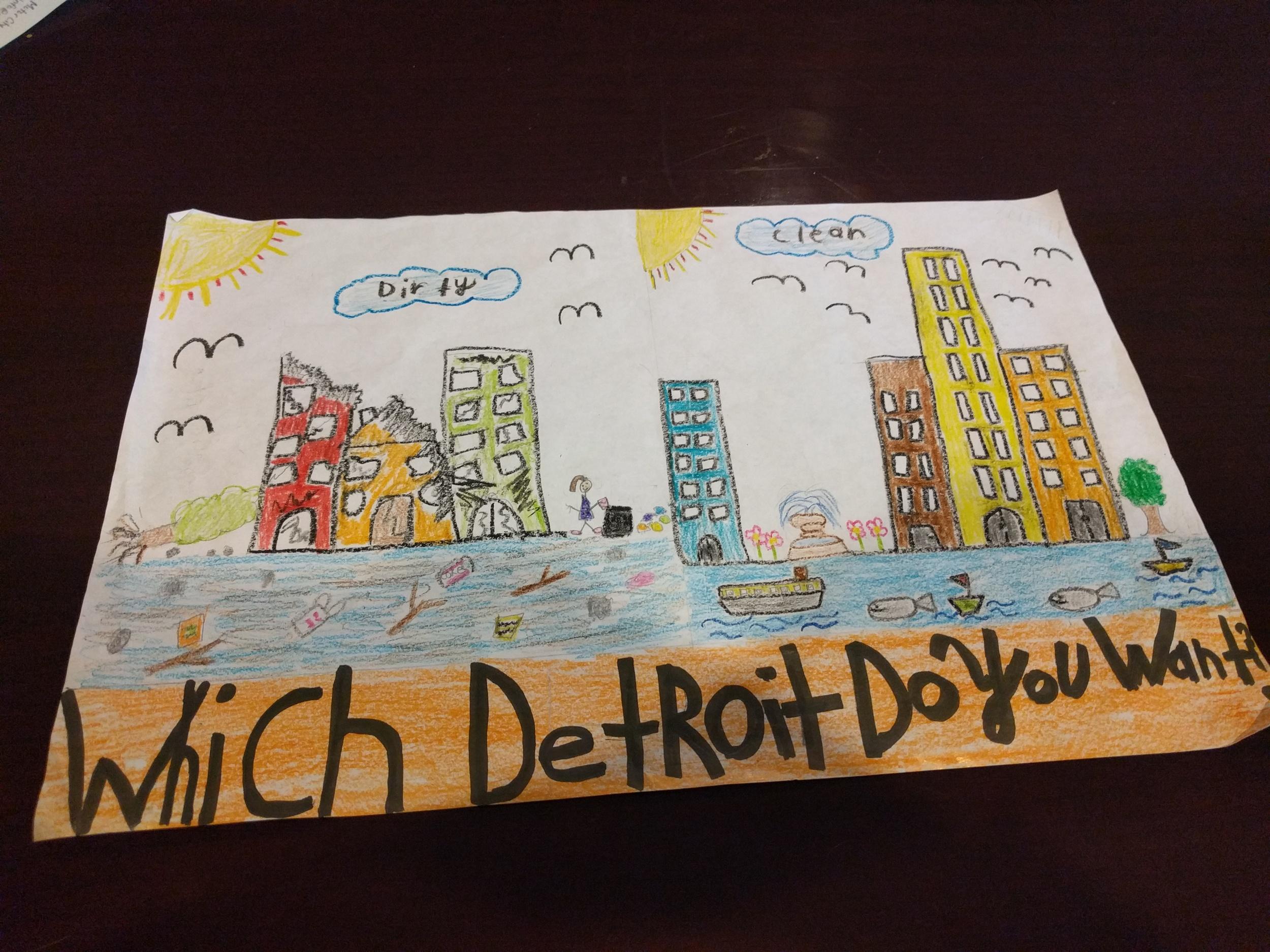 Artwork by 3rd grade student Evelyn Valenzuela, Bennett Elementary School.