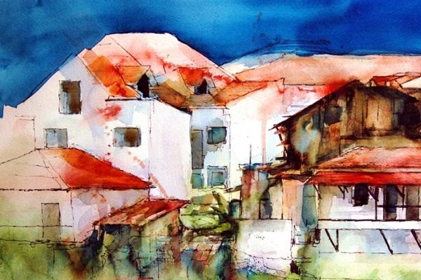 Mac Kechnie, WC and Ink, Old Panama City.JPG
