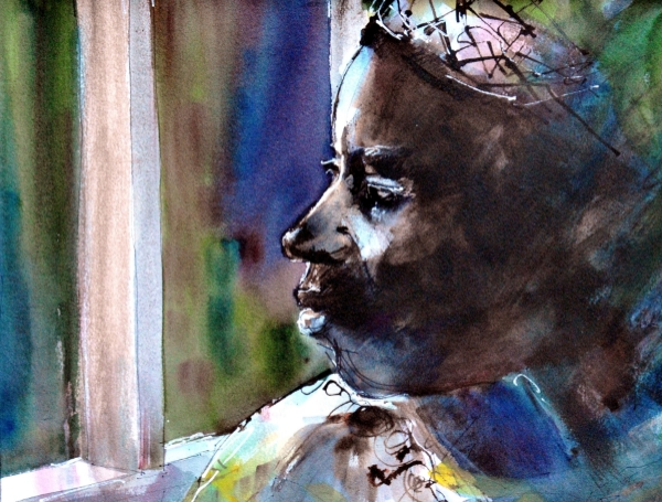 MacKechnie The Waiting Watercolor and Ink 24x18.JPG