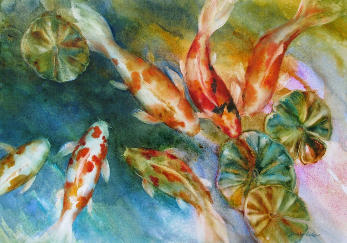 Gathering Koi_Watercolor Denise Cole_sm.jpg