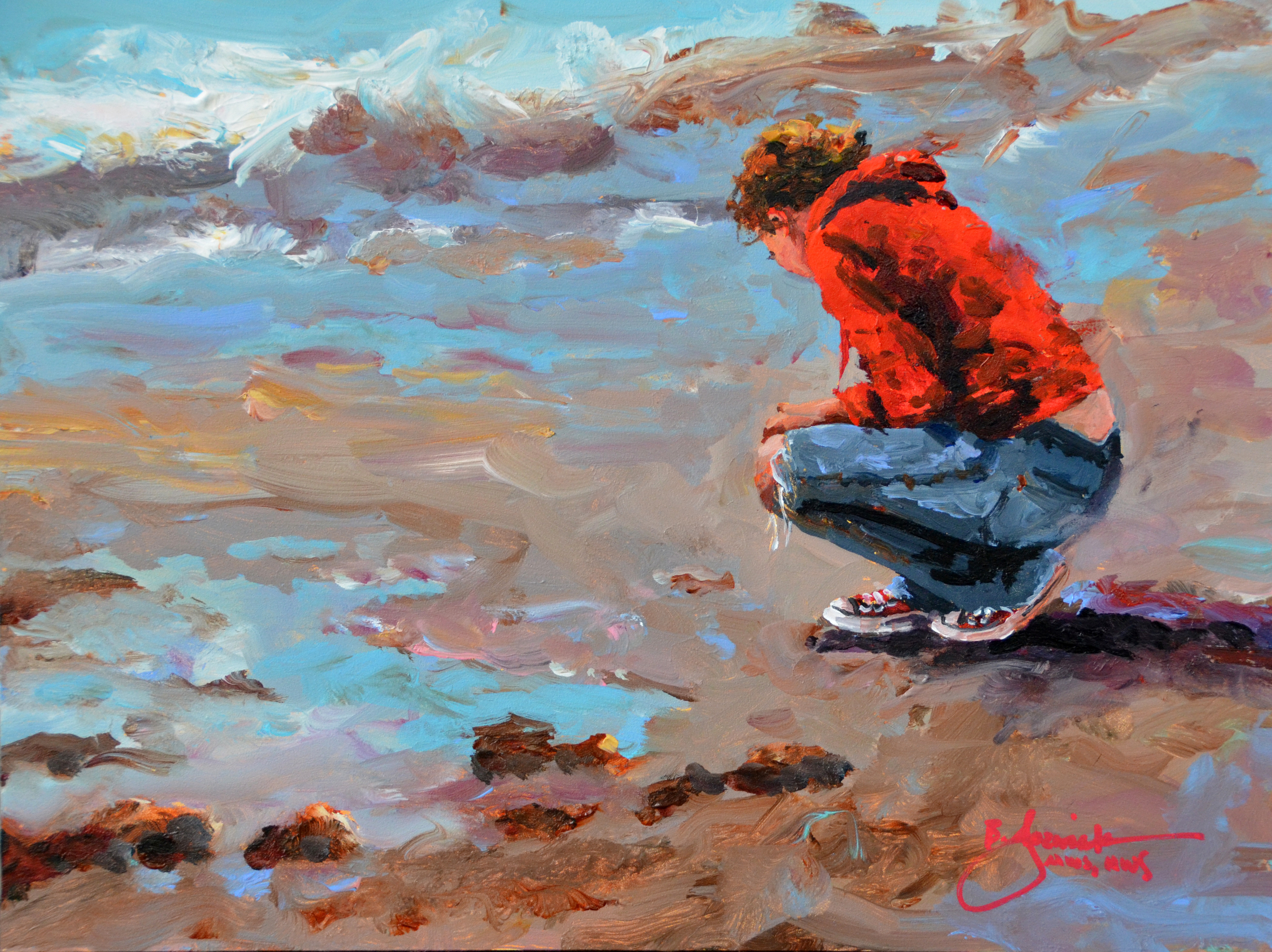 Bev Jozwiak_Seaside Treasures 9x12_acrylic.jpg