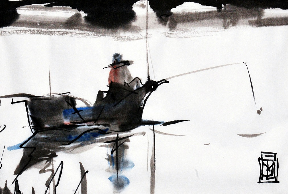Fishing sumi-ink - small.jpg