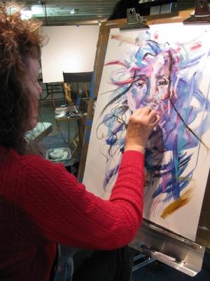 A student of Joe's Portrait workshop