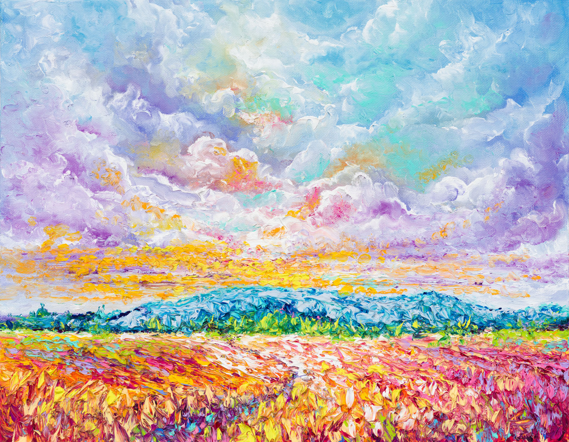 Kimberly Adams_Colorful Clouds_Oil_14 x 18_695.00.jpg