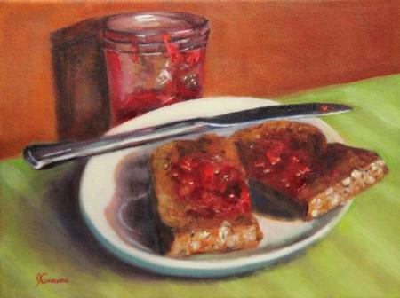 JanisGraves_Toast and Jam_9x12._oil.JPG