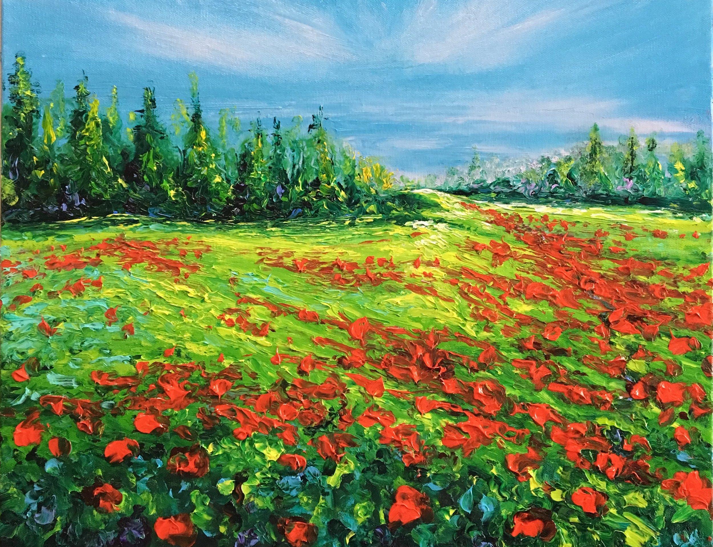 Kimberly Adams_Poppied Hillside_16 x 20 _Oil_995.jpeg