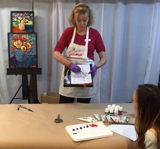Tracy teaching Color Theory 2 painting.jpg