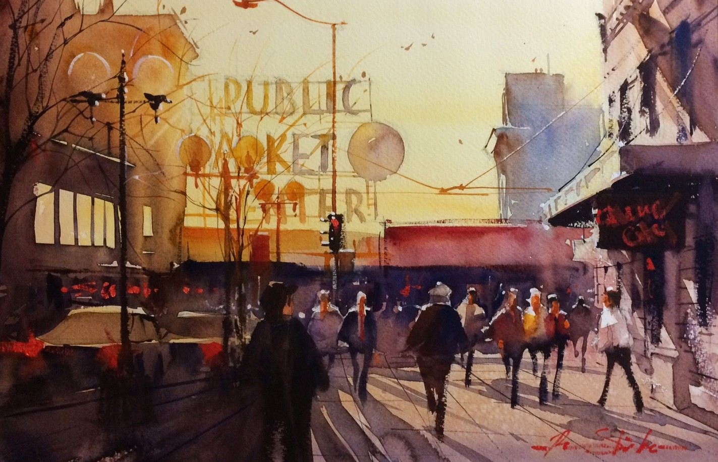 Ron Stocke_Pike Place Sunset_14x21_950.jpg