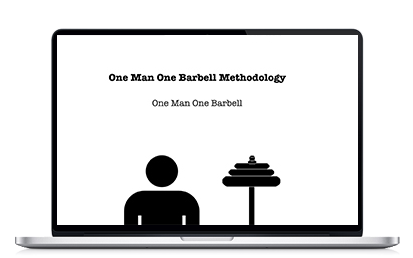"The 2014 Update is ""One Man One Barbell Methodology"". A robust guide with nearly a dozen new methods to implement within the One Man One Barbell Training system."