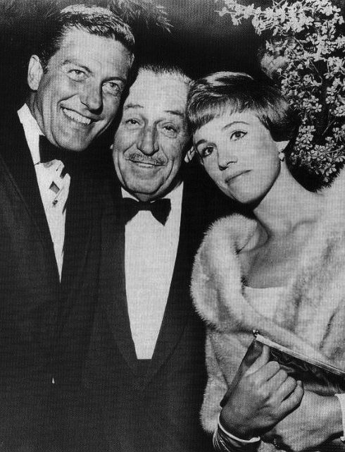 Dick Van Dyke, Walt Disney and Julie Andrews.jpg