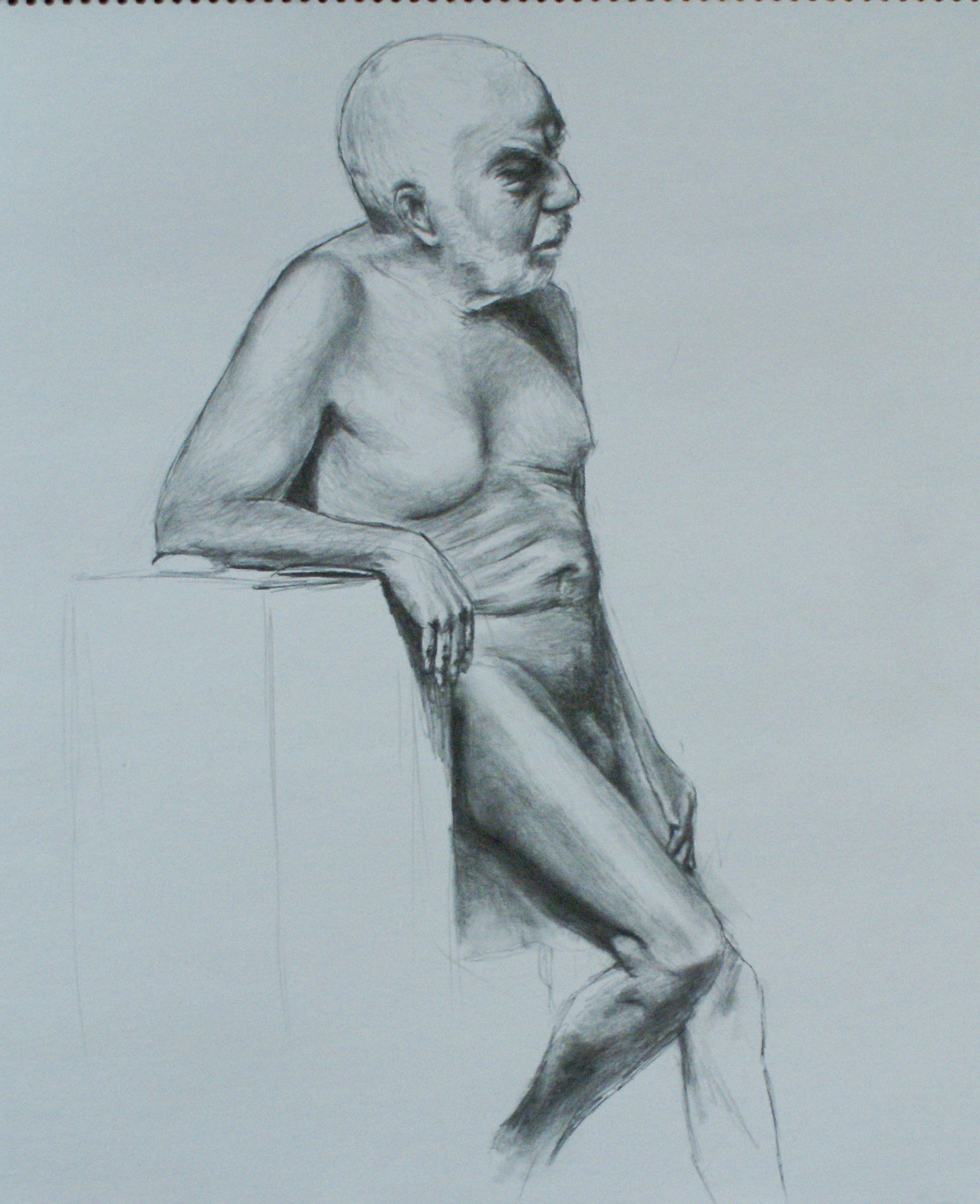 David Merrique- Anatomy and Figure Drawing. Charcoal on paper 18 x 24 in.