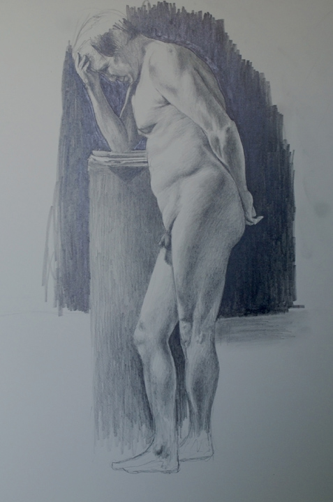 David Merrique- Anatomy and Figure Drawing II. Charcoal on paper. 18 x 24 in.