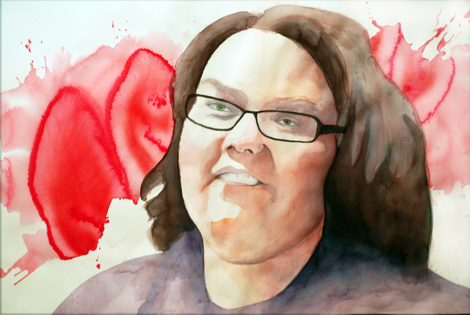 Katie Traber. Thesis ( thesis advisor) watercolor. 22 x 30 in.