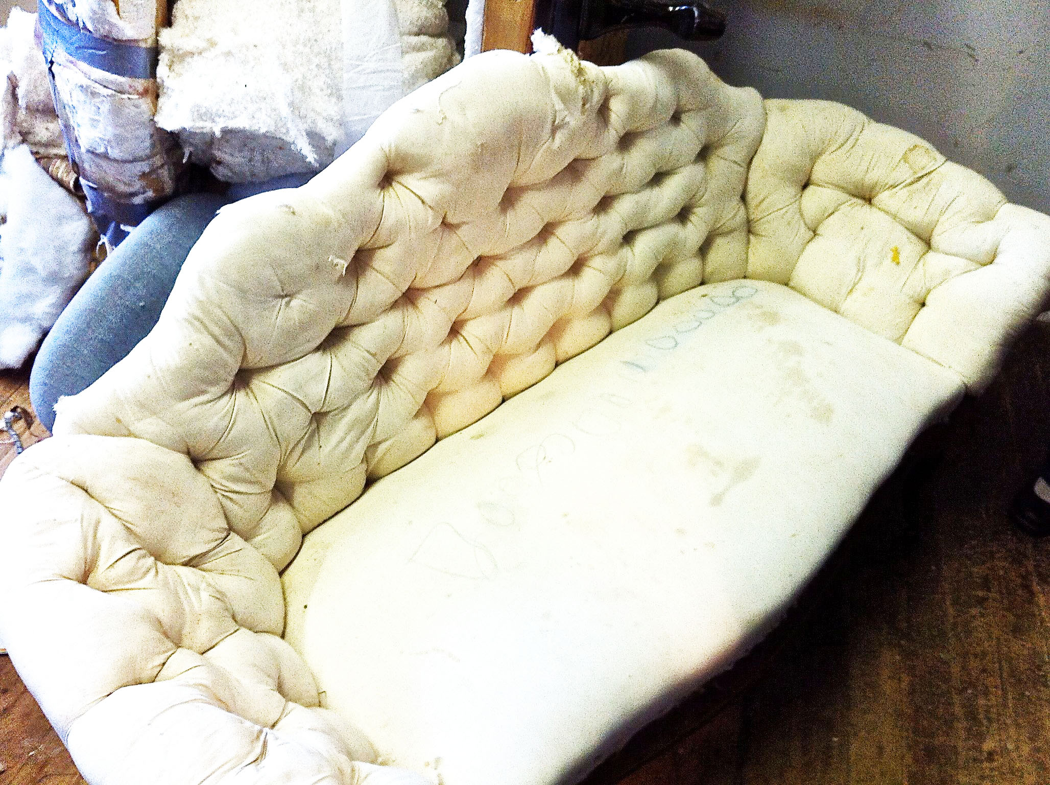 Our Couch Before Tony's Artistry