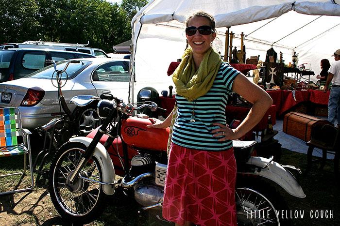 Zandra with a Z Motorcycle