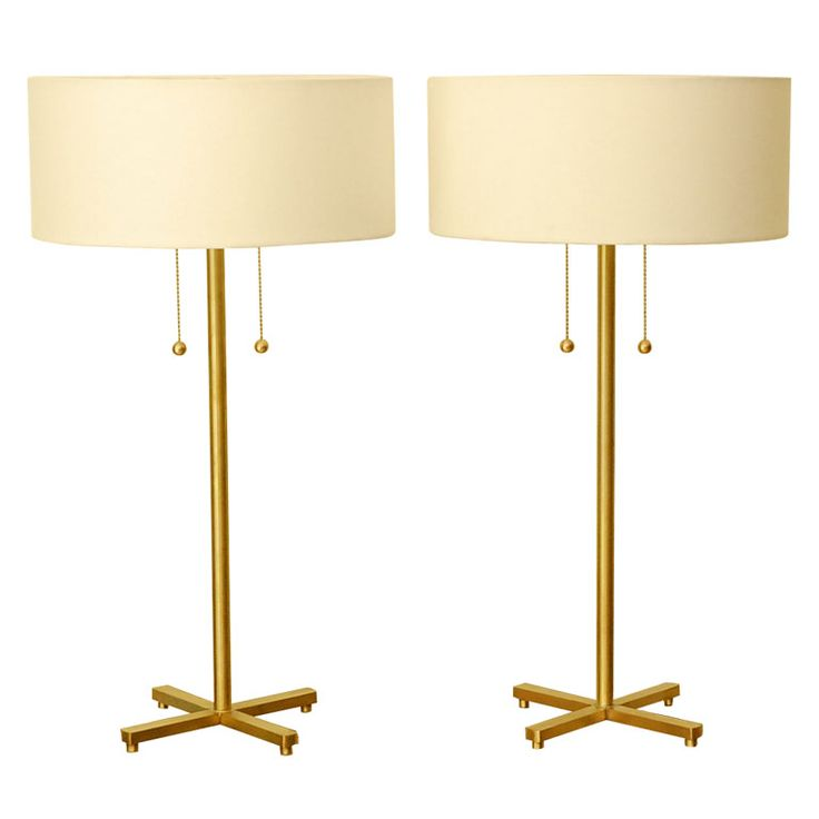 Lawson-Fenning via  1stdibs   I would put these on a painted table or dresser. I love combining painted wood with brass.