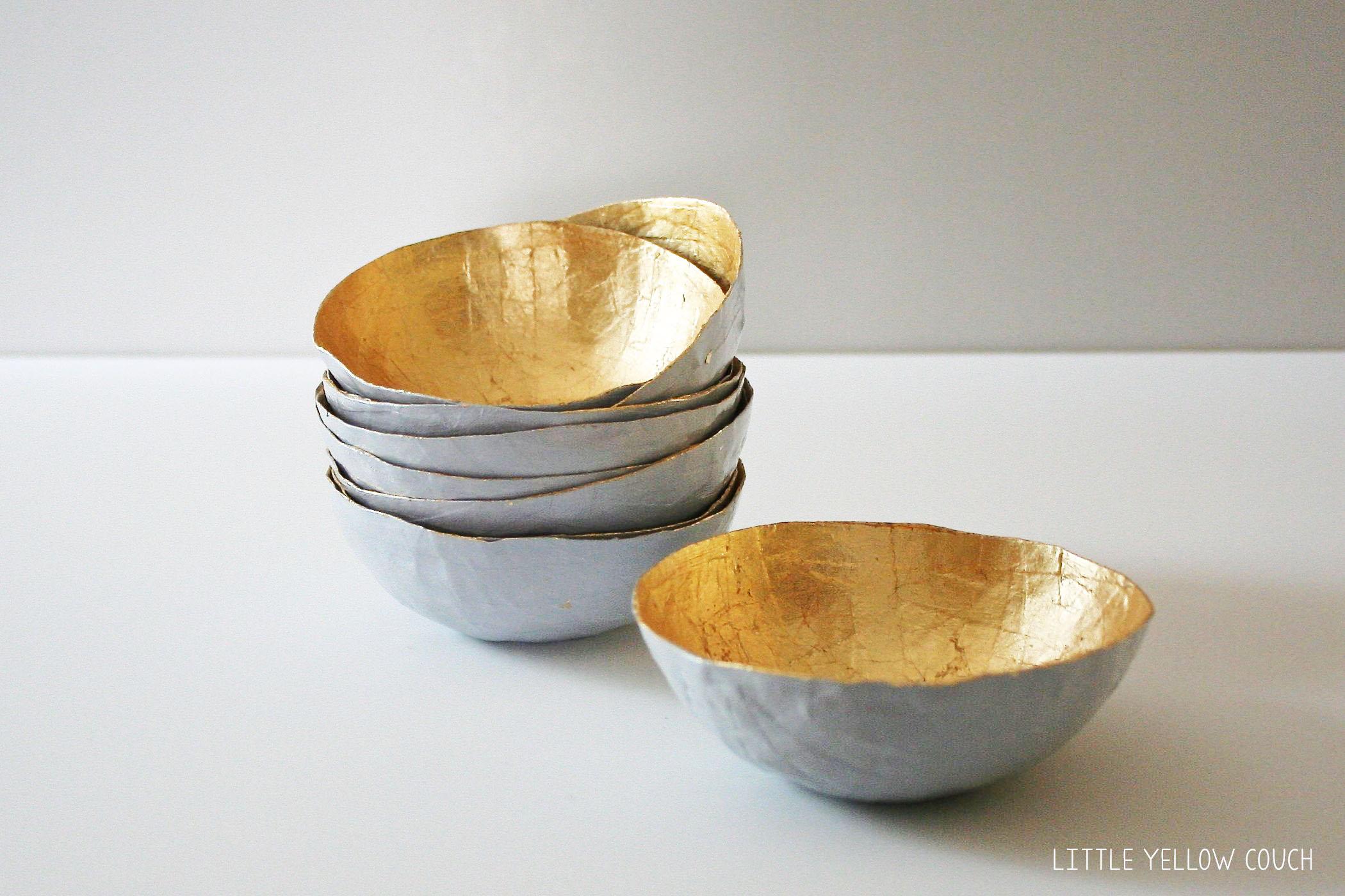 Papier-mâché bowls