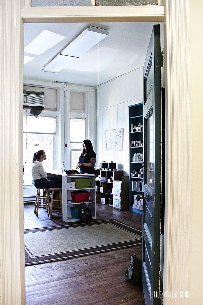 Zandra and Liz in her Salem studio