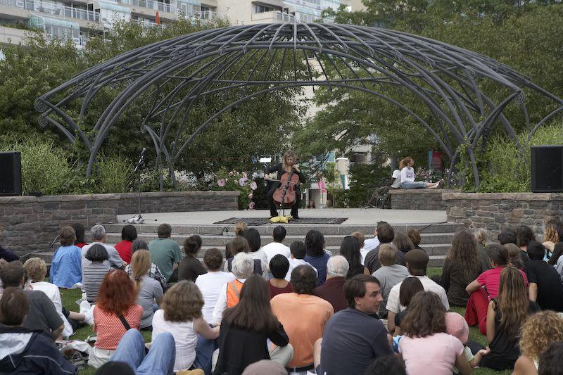 Toronoto Music Garden, photo courtesy  Harbourfront Centre, Toronto, Canada