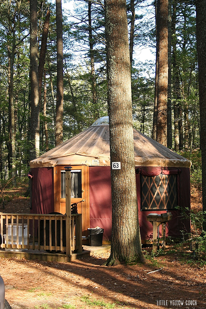 One of two yurts we rented for the weekend.