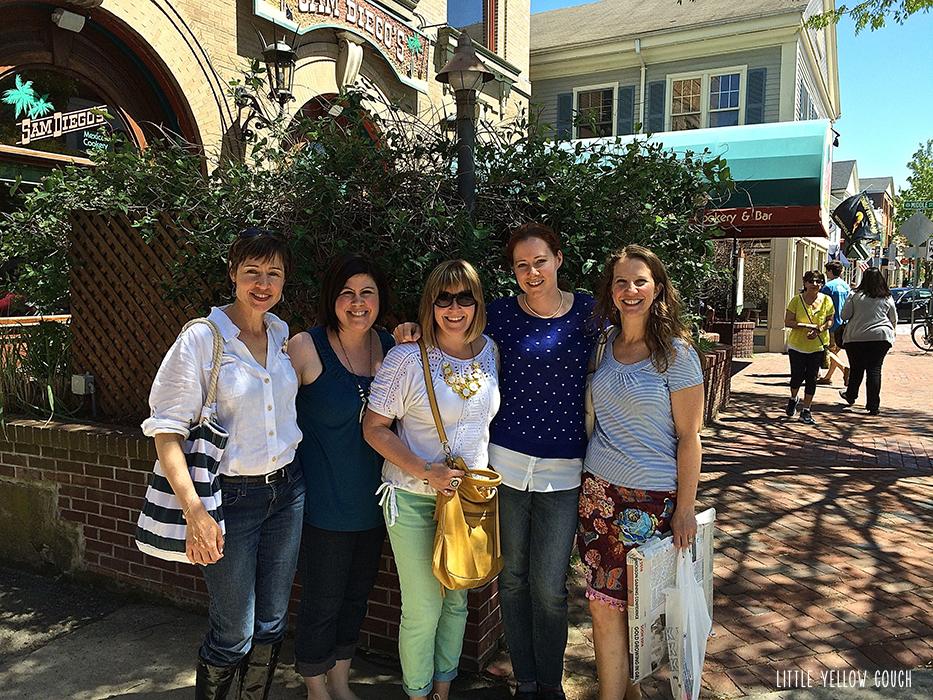 Left to right: Laura, Karen, Sam, Ellen, Zandra