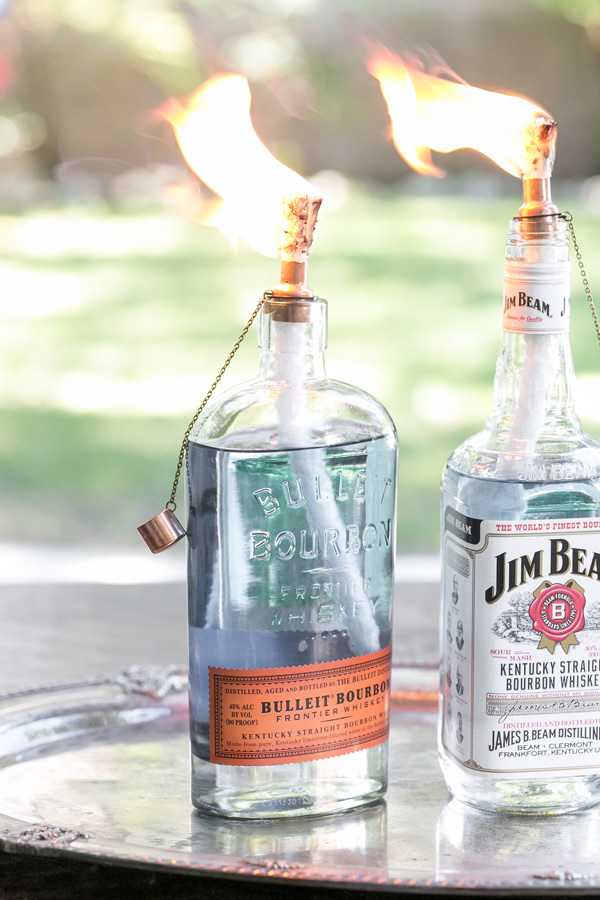 Photo provided by Sugar and Charm - DIY Tiki Torch Bottles