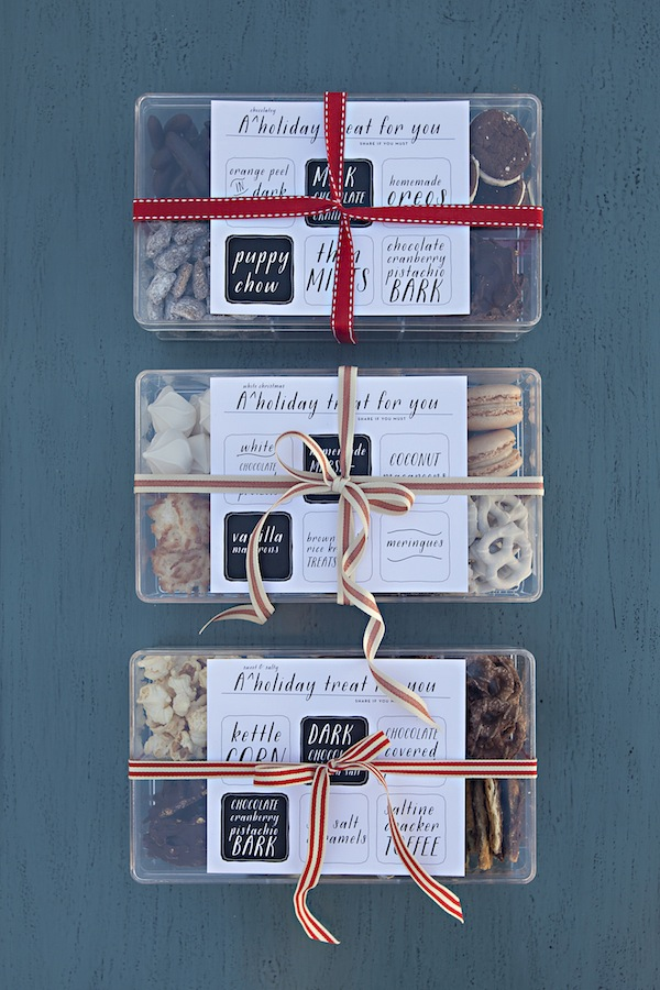 Download Melanie's labels for your own  treat compartments .