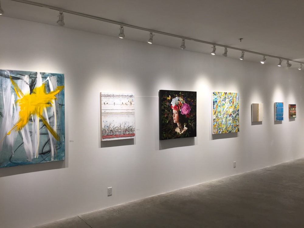 Salon show at  Abigail Ogilvy  gallery. Photo from artist  Holly Harrison .