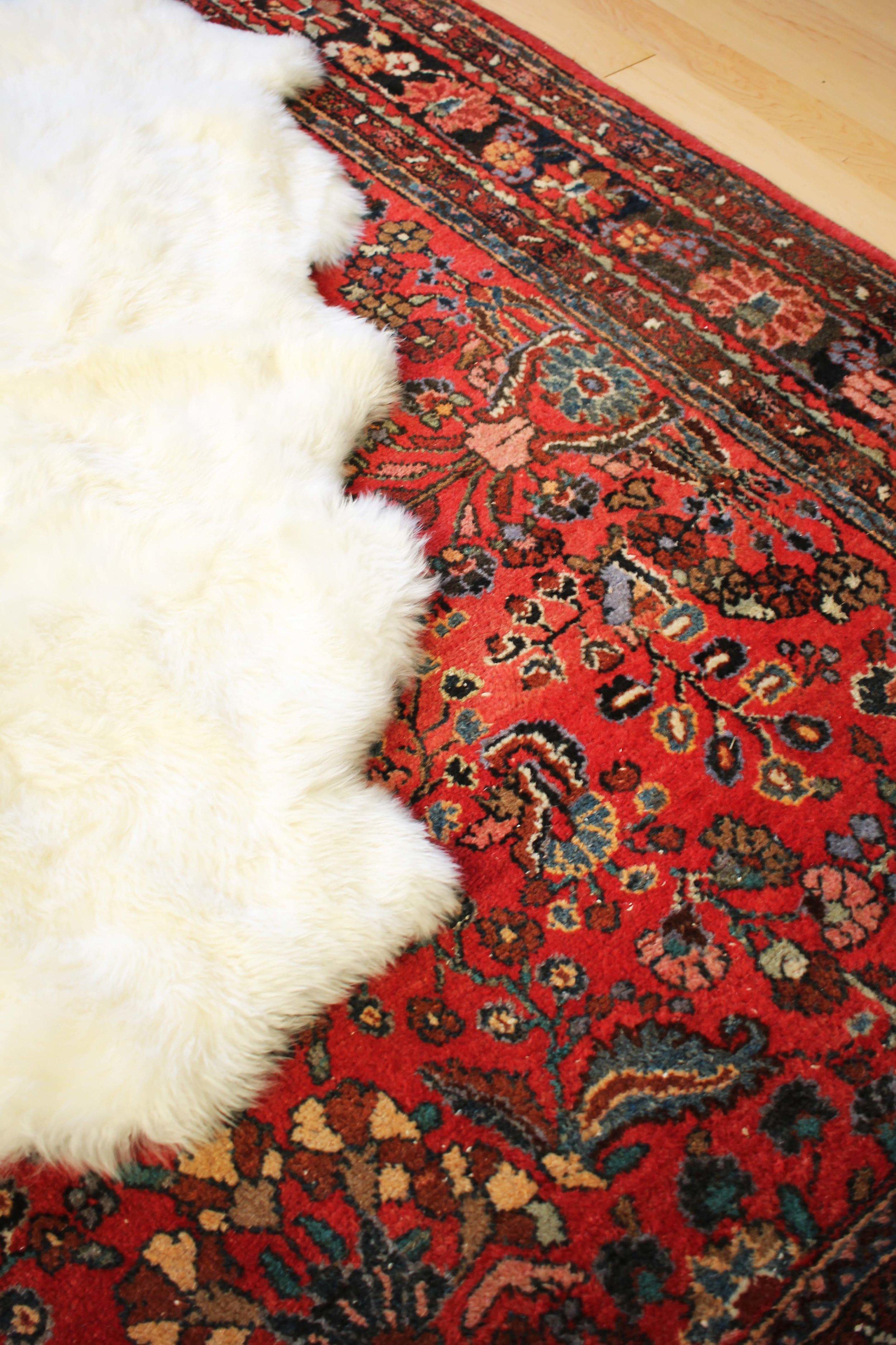 A little peek at Karen's New Oriental Rug