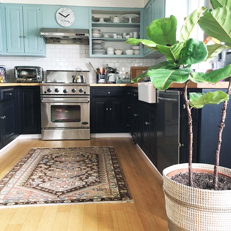 Zandra's Kitchen with the new rug