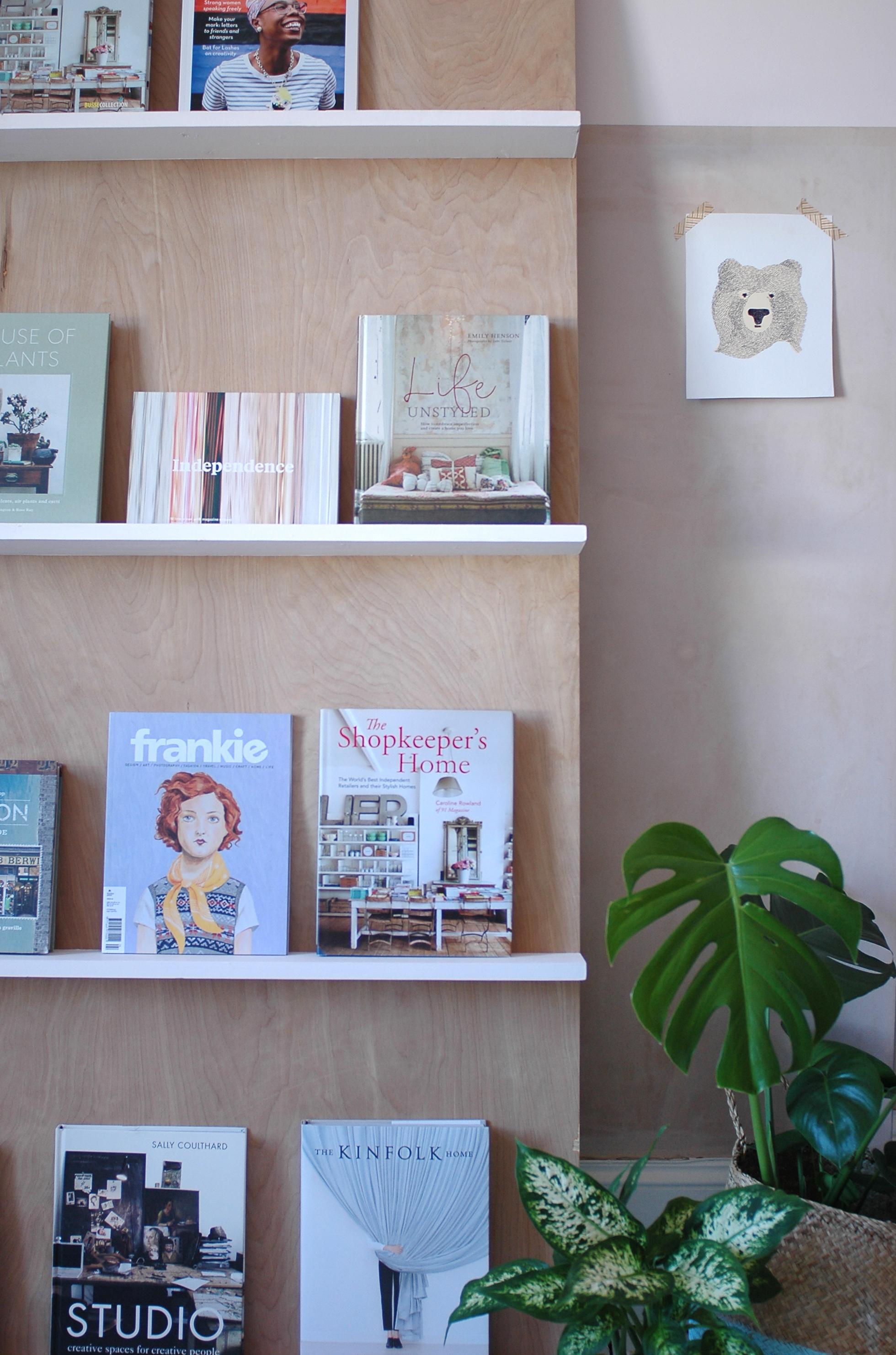 Photography by Caroline Rowland : Office Bookshelf