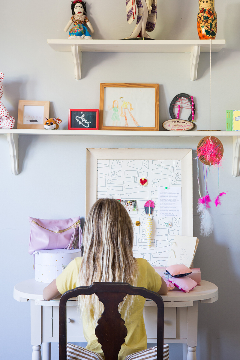Desha's daughter in her creative space.   Photos by Jo Chattman