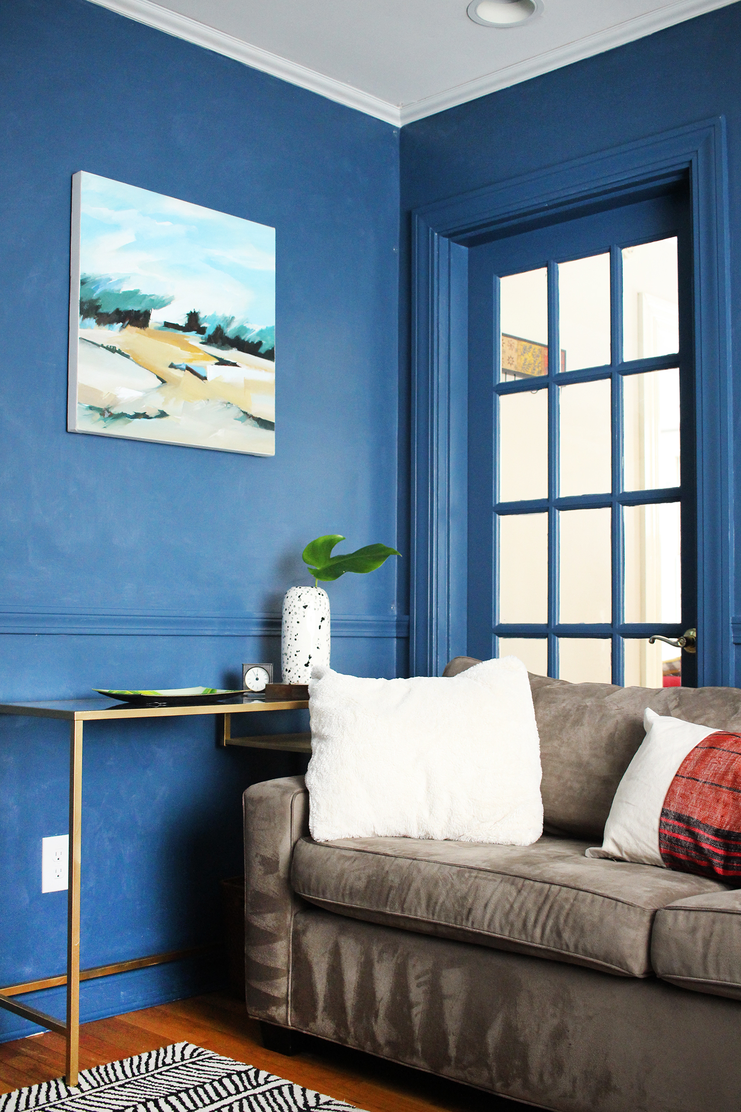 Zandra's Blue TV Room
