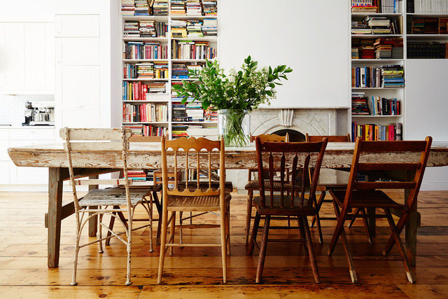 From the book,  City Farmhouse Style , a brownstone in Brooklyn, NY Photo: Nicole Franzen