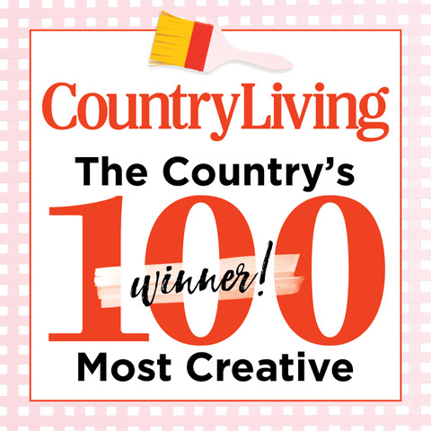 Country Living Magazine :Kim Leggitt was recently named one of the Country's 100 Most Creative People.
