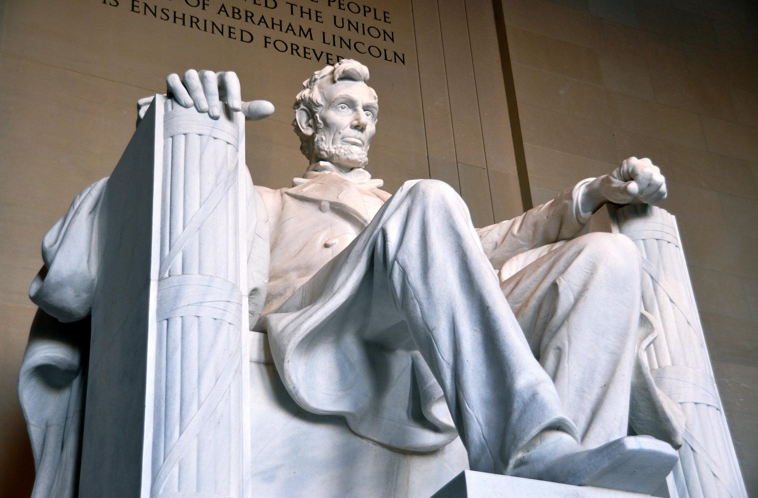 White Georgia Marble: Lincoln Memorial, DC