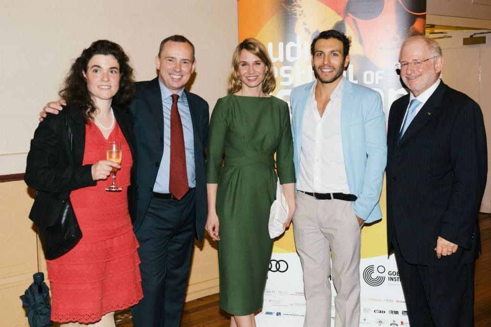 Dr Arpad Sölter, Nadeshda Brennicke, Angus McGruther with staff of Goethe Institut Australia.  © Wesley Nel 2014