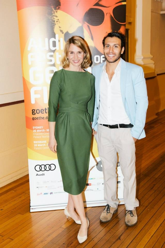 Nadeshda Brennicke and Angus McGruther at the Australian premiere of 'Banklady' in Sydney.  © Wesley Nel 2014