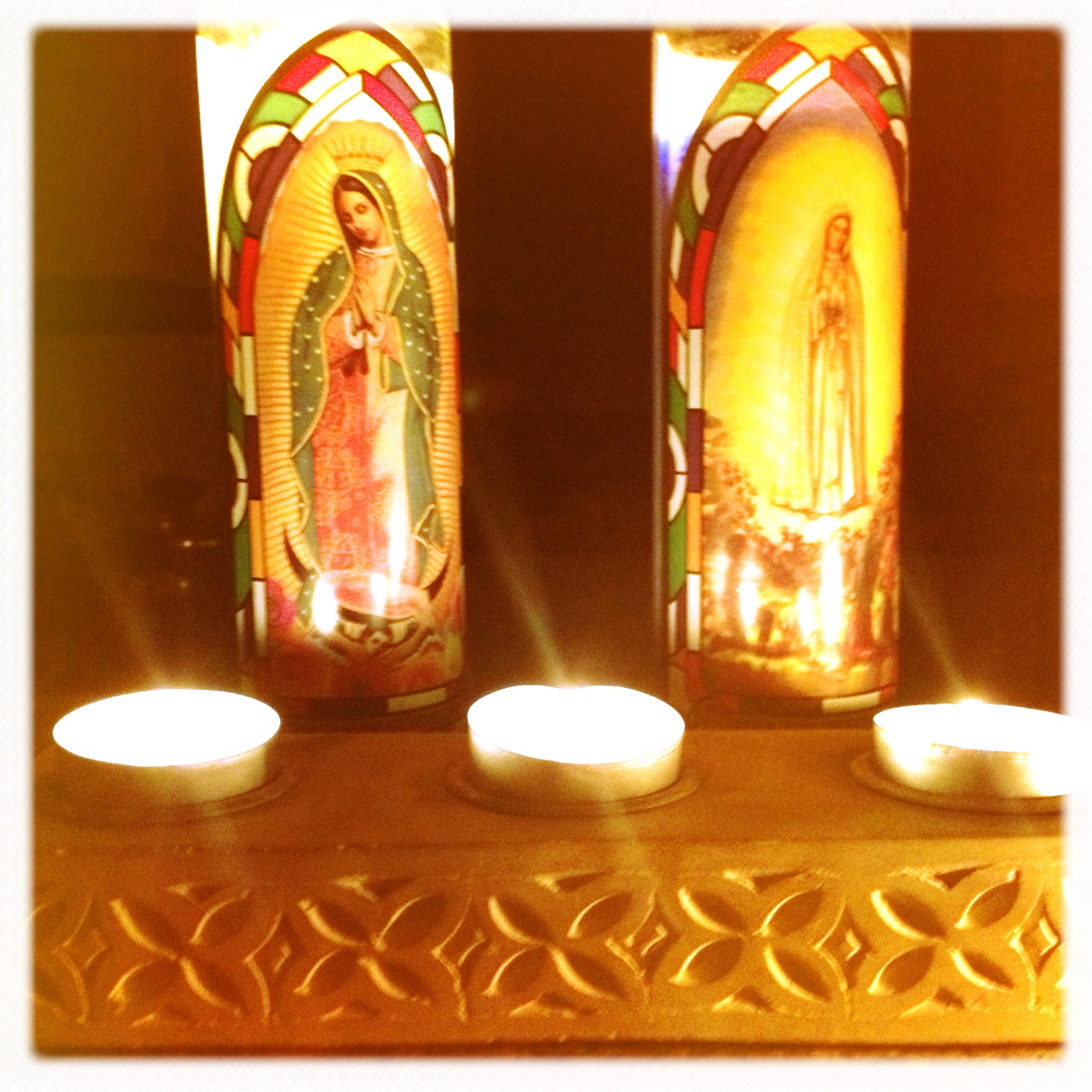 I am not religious but can't resist Catholic candles.