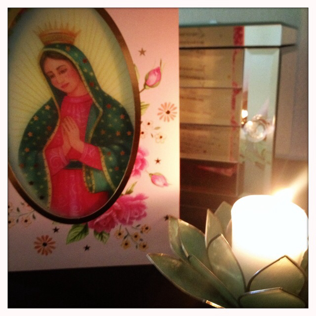 My husband knows I love Virgin Mary art so he got me this Mother's Day card.
