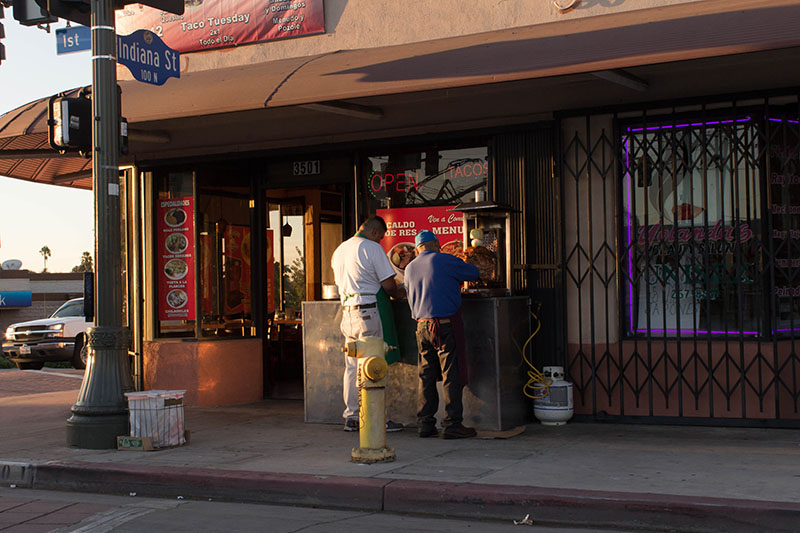 Phase 2: Photograph everything between East LA and Little Tokyo including meat on outdoor spits.