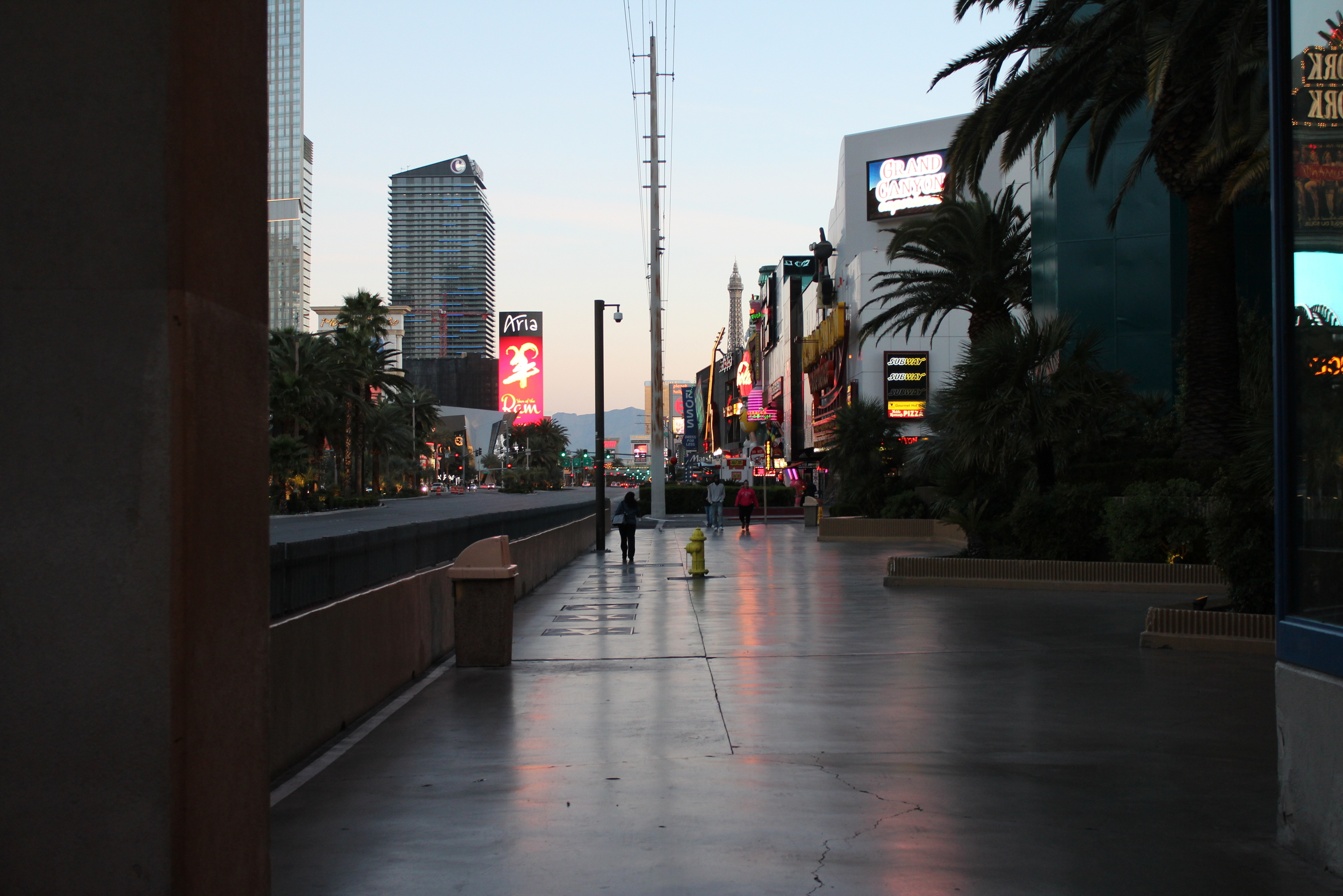 The strip at dawn. I pulled an all-nighter fueled by caffeine and video roulette.